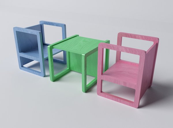 Child Chair & Table Combination